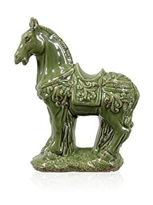 Urban Trends Collection Ceramic Horse (Green)