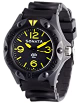 Sonata Superfibre Analog Black Dial Men's Watch - ND7975PP01