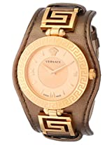 Versace Women's VLA040014 V-SIGNATURE Analog Display Swiss Quartz Brown Watch