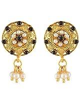 Nakshatra Collection Golden Metal Dangle & Drop Earring For Women