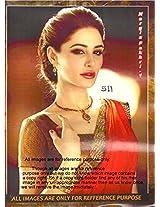 New Red Designer Partywear Bollywood Replica Georgette Saree Sari Nargis Fakhri