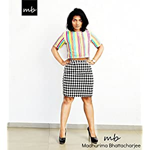 Madhurima Bhattacharjee Checkered Black and White Pencil Skirt