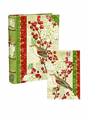 Punch Studio Bookbox Holiday Greeting Cards (Sparrow)
