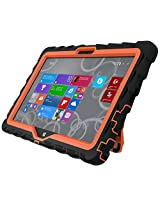 Gumdrop Cases Hideaway Rugged Case with Stand for Dell Venue 11 Tablet (Black-Orange)