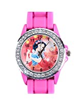 Disney Princess Snow White Kids Analog Watch - Hot Pink