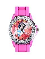 Disney Princess Snow White Kids Analog Watch - Hot Pink