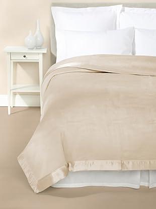 Mélange Home Chelsea Silk-Blend Blanket (Taupe)