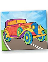 Toy Kraft Sandart Pictures on Road, Multi Color