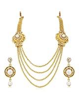 Meenaz Traditional Necklace Sets Jewellery Sets Gold Plated With Earrings For Women,Girls NL109
