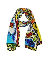 Wrapables Luxurious 100% Charmeuse Silk Long Scarf with Hand Rolled Edges, The Gathering