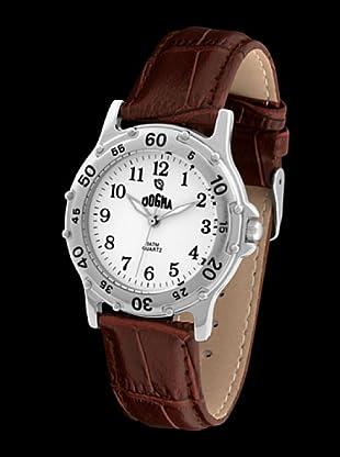 Dogma G1002 - Reloj de Caballero movimiento de quarzo con correa de piel marrón