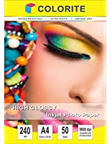 Colorite 240 Gsm A4 /50 Sheets Inkjet High Glossy Photo Paper