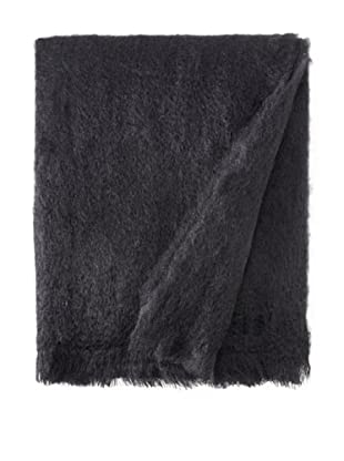 BRUN DE VIAN-TRIAN Mohair Solid Throw, Noir