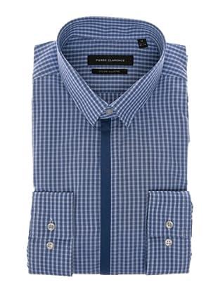 Pierre Clarence Camisa de manga larga (Azul/Blanco)