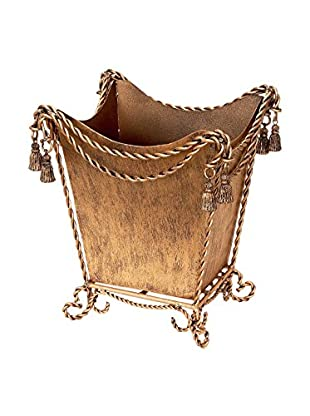 Swag and Tassel Accent Waste Basket