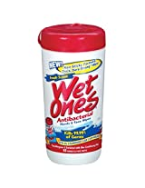 Energizer Wet Ones 04703 Antibacterial Face & Hand Cleaning Wipes, 40 Count
