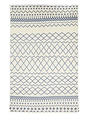 Darya Rugs Modern Oriental Rug, Off-White, 6' 1