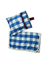 Kadambaby - diaper change mat and pouch - blue checks