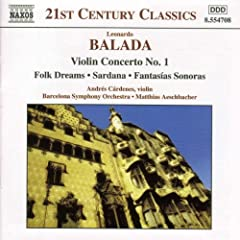 Violin Concerto 1 / Folk Dreams / Sardana
