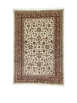 L'Eden del Tappeto Teppich Kashmirian F/Seta rot/beige/grün 183t x t125 cm