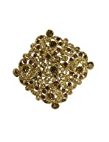 Kshitij Jewels Brown Metal Clip-On Brooch For Women (KJB 006)