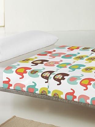 Little W Juego de Sábanas 2 piezas Sweet Elephants (Multicolor)