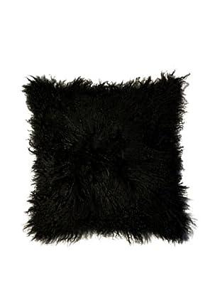 Natural Brand Mongolian Sheepskin Pillow, Black
