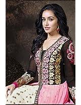 Shraddha Kapoor Pink Anarkali Suit -SUKHW1122