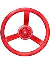 "Jungle Gym Kingdom 12"" Playground Plastic Steering Wheel Red"
