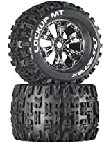 Duratrax Lockup MT 3.8 Mounted Tyre (Set of 2), Chrome