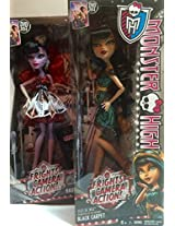 Doll Gift Collection, Monster High Frights, Camera, Action. Operetta From Hauntlywood, Daughter Of The Phantom Of The Opera; Cleo De Nile On The Black Carpet, Daughter Of The Mummy; 2 Doll Bundle
