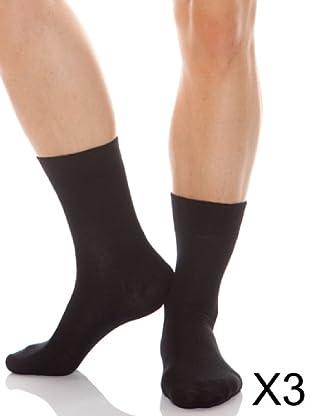 Abanderado Calcetines Lana Clasico Pack3 (Negro)