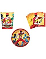 Power Rangers Dino Charge Party Supplies Set Plates Napkins Cups Kit For 16