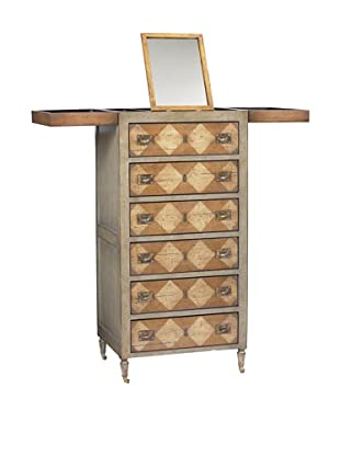 French Heritage Tall Make-up Chest, Grey