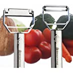 Brieftons Julienne Peeler/Cutter/Slicer: Serrated Stainless Steel Fruit/Vegetable Peeler & Julienne Slicer