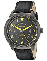 Pulsar Men's PG2023 Analog Display Analog Quartz Black Watch