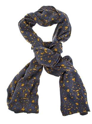 American Vintage Foulard hojas (Amarillo / Azul)