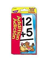 Trend Enterprises Inc. Pocket Flash Cards Addition Adicion (Set Of 12)