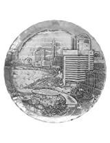 Wendell August Forge Columbus Cityscape Plate, 9-Inch