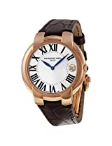 Raymond Weil Jasmine Silver Dial Gold PVD Steel Brown Leather Ladies Watch (5235-PC5-00659)