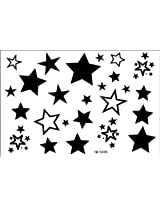 GGSELL 2012 latest new design hot selling Male and female tattoo stickers waterproof stars star fake tattoo