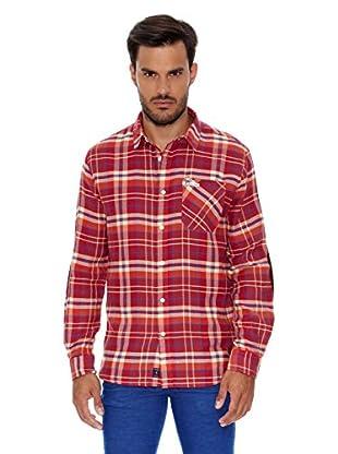 Pepe Jeans London Camisa Hombre Bob (Rojo Oscuro)