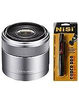 Sony SEL30M35 30mm f/3.5 E-Mount Macro Lens (Silver) + Nisi Pro LensPen Lens Cleaner