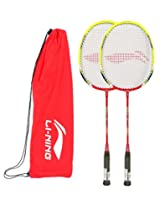 Li-Ning Xp 80 II Badminton Racket with Extra Grip, Pack of 2
