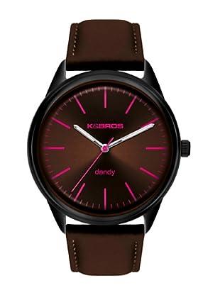 K&BROS 9486-4 / Reloj de Caballero con correa de piel Marrón