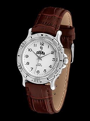 Dogma G1016 - Reloj de Caballero movimiento de quarzo con correa de piel marrón