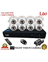 AHD LIO 8CH DVR + AHD 1.3 Megapixel High Resolution LIO 36IR DOME CAMERA 8pcs COMBO