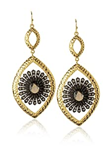 Courtney Kaye Electrum Earrings, Gold/Hematite
