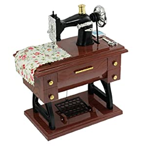 Vintage Mini Sewing Machine Mechanical Style