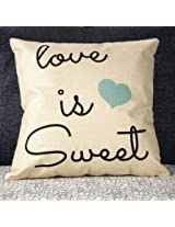 Lovers Valentine Cotton Linen Throw Pillow Case Home Cover (C4)